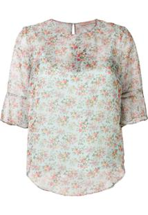 Twin-Set Floral Printed Blouse - Azul