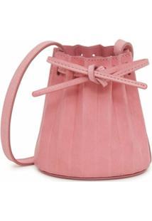 Mansur Gavriel Bolsa Bucket Mini Com Cordão De Ajuste - Rosa