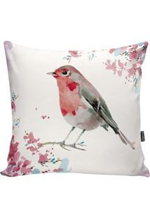 Capa De Almofada Birds- Branca & Rosa- 42X42Cm- Stm Home