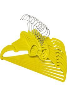 Kit De Cabides Veludo Infantil Kit Com 20 Uni Amarelo Velvet