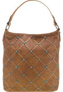 Bolsa Feminina Arara Dourada - Lt8145 Caramelo