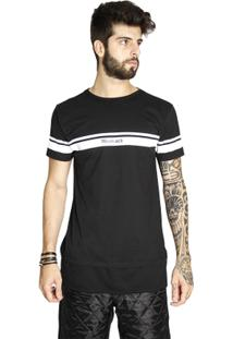 T-Shirt Wosmock Kendo Alongada - Feminino-Preto