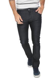 Calça Jeans Yachtsman Slim Pespontos Azul-Marinho