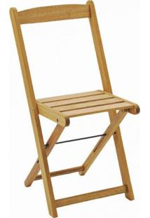 Cadeira Dobrável Para Jardim Em Madeira Maciça Veneza Mestra Polisten Jatobá