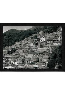 Capacho - Tapete Colours Creative Photo Decor - Rocinha No Rio De Janeiro Preto