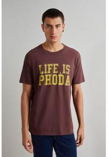 Camiseta Reserva Life Masculino - Masculino-Vinho