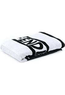 Fendi Logo Convertible Towel Tote - Branco