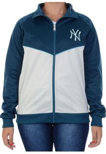 Jaqueta New Era Track Top Girls Mlb New York Yankees Azul / P