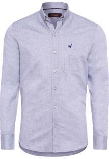 Camisa Masculina Oxford - Cinza