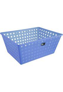 Cesta Organizadora Em Polipropileno Maxi Azul 10818/0461 Coza