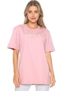 Camiseta Forum Grace Rosa
