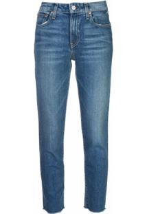 Trave Denim Calça Jeans Slim Cintura Média - Azul