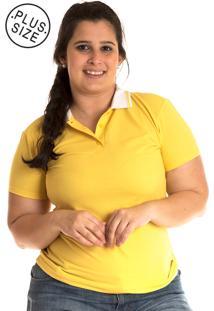 Camisa Polo Konciny Plus Size Amarelo