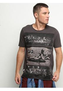 Camiseta Derek Ho Desert Wondere Scape Masculina - Masculino-Chumbo