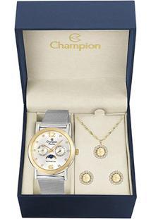 Relógio Champion Analógico Ch38208W Feminino - Feminino-Prata
