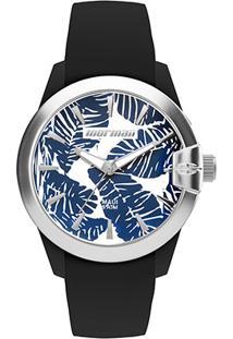 Relógio Analógico Mormaii Mo2035In-8P Feminino - Feminino-Preto+Azul