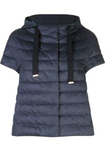Herno Short-Sleeve Padded Jacket - Azul