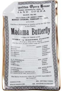Fornasetti Bandeja Cinza Modelo 'Madama Butterfly'.