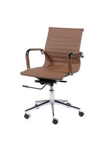 Cadeira Office Eames Esteirinha Baixa Giratória Caramelo Or Design