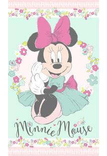 Toalha De Banho Disney Minnieâ® Liberty- Verde Claro & Rosantista