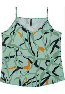 Blusa Com Alças Estampada Verde