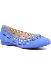 Sapatilha Feminina Bottero Mari Azul - Feminino-Azul
