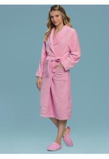Robe Adulto Feminino Rosa