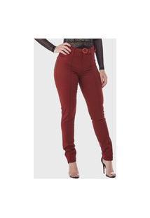 Calça Jeans Hno Jeans C/ Cinto Bordô