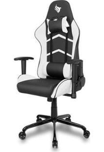 Cadeira Gamer Pichau Donek - Unissex-Preto+Branco
