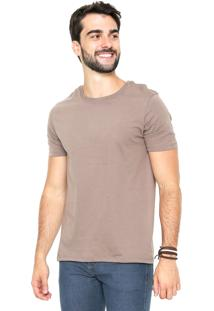 Camiseta Hering Gola Redonda Marrom