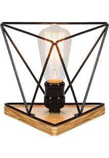 Luminaria Genius Estrutura De Ferro Redonda Cor Preto 16Cm (Larg) - 54092 - Sun House