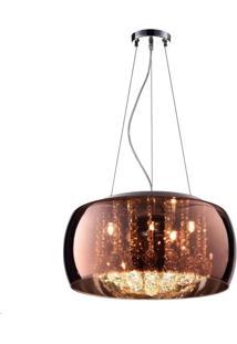 Pendente Plafon Cristal Verona Cobre 40W - Pd/Pl400/Co - Kin Light - Kin Light