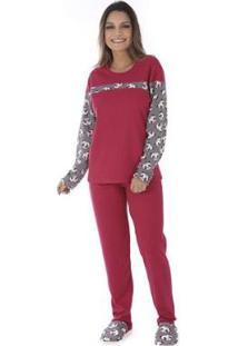 Conjunto Pijama Victory Inverno Fofucho Feminino - Feminino-Pink