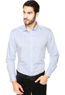 Camisa Vr Bordado Azul