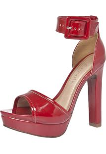 Sandália Crysalis Meia-Pata Vermelha