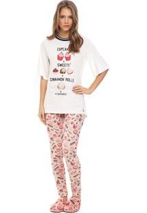 Pijama Legging Lua Luá Red Velvet Rosa