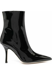 Paris Texas Ankle Boot Bico Fino - Preto