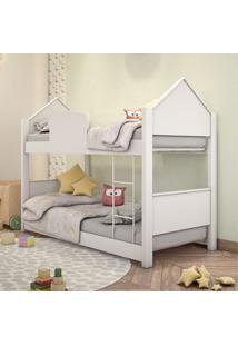 Beliche Infantil Casa Branca Com Colchões Casah