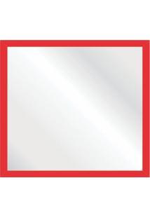 Espelho Decorativo Pop 55X55 Vermelho