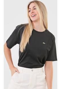 Camiseta Lacoste Logo Preta