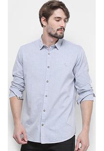 Camisa Manga Longa Reserva Regular Chambray Masculina - Masculino