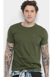 Camiseta Ellus Classic Masculina - Masculino-Verde Militar