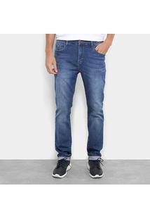Calça Jeans Acostamento Slim Fit Masculino - Masculino