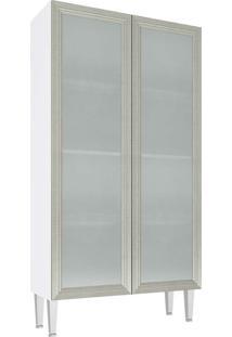 Cristaleira 2 Portas Vidro Cz707 Mia Coccina - Art In Móveis Nude
