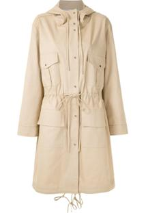 Gloria Coelho Trench Coat Com Capuz - Neutro