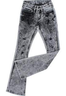 Calça Jeans Tassa Bordada Boot Cut Feminina - Feminino