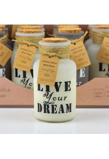 Vela Perfumada Live Your Dream Em Vidro 1 Unidade Kasa Ideia - Tricae