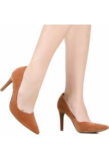 Sapato Scarpin Zariff Bico Fino Marrom