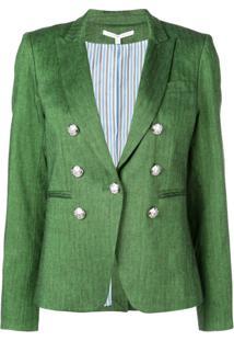 Veronica Beard Blazer Com Abotoamento Duplo - Verde