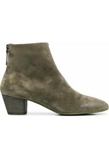 Marsèll Ankle Boot Com Salto Bloco E Zíper Posterior - Verde